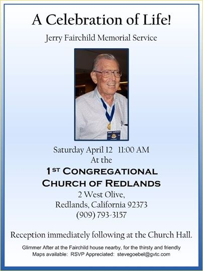Jerry Fairchild Memorial Service