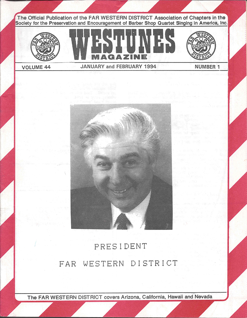 Don Gubbins on Westunes Cover, Jan-Feb 1994